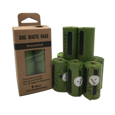 Earth-Friendly 8 Roll Large Biodegradable Dog Poop Bags