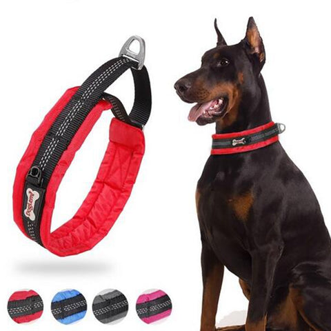 Nylon Martingale Dog Training Collar Reflective Soft Padded