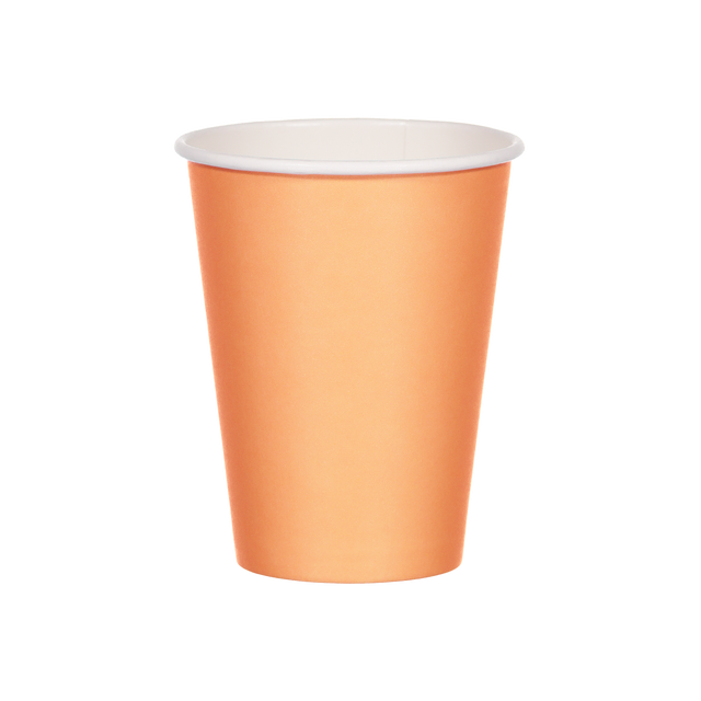 Single Walled Hot Cup - Sherbert Orange