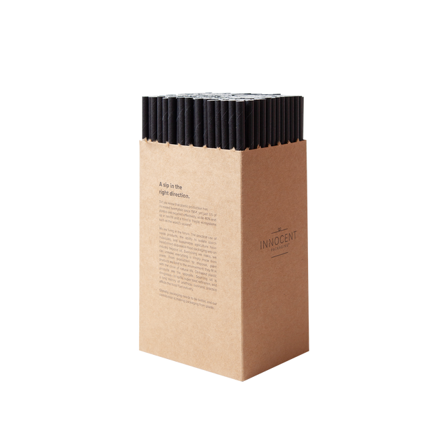 Straw - Display Black Paper - 6mm