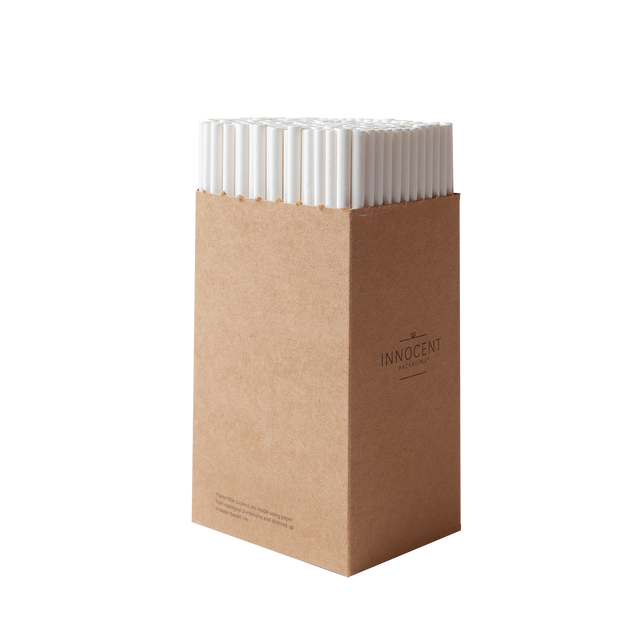 Straw - Display White Paper - 6mm