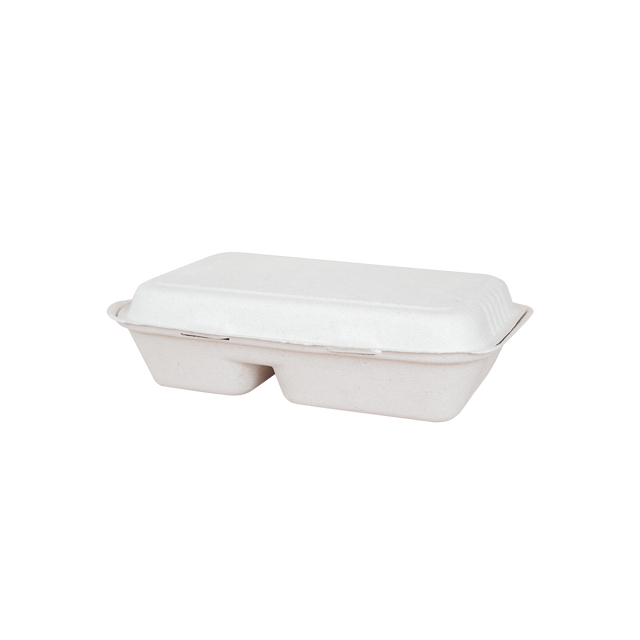 Bagasse - Two Compartment Clam