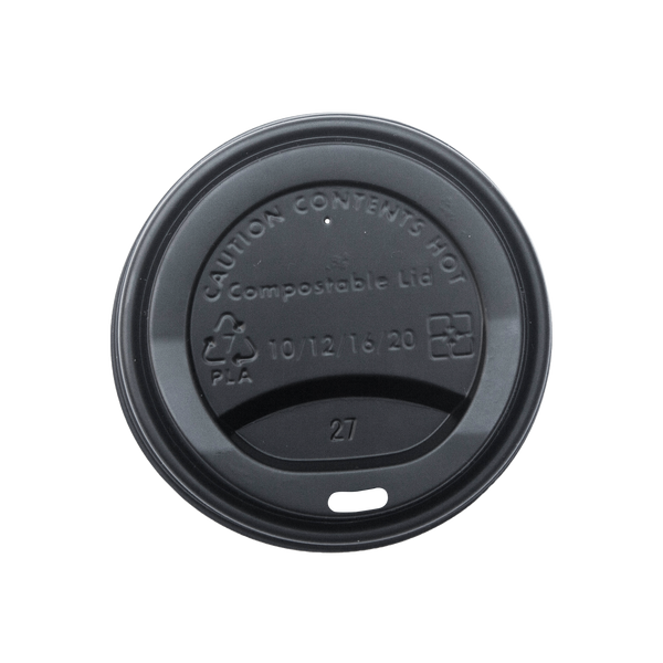 Hot Cup Lid Black