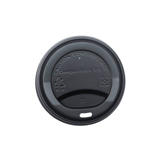 Hot Cup Lid - Black
