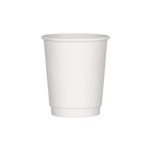 Double Walled Hot Cup - White