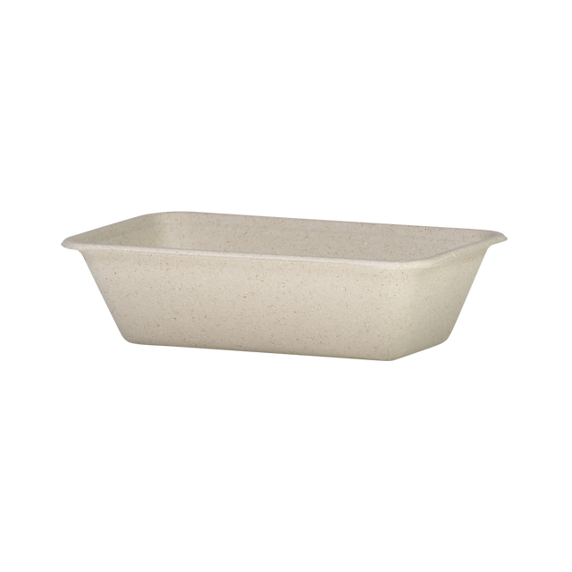 Wheatstraw - Large Flat Container