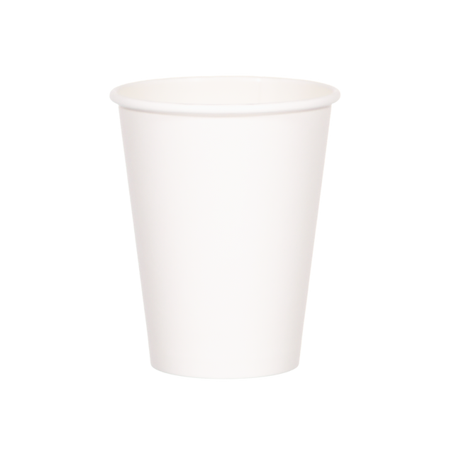 Single Walled Hot Cup - White