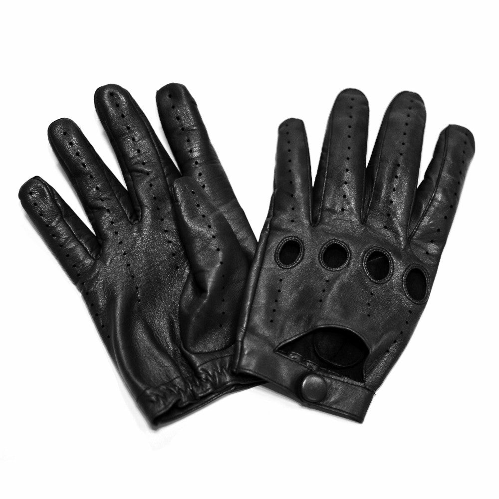 Mens gloves for driving -  Men S Driving Leather Touch Screen Glove Cognac Black