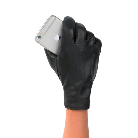 Women's Classic Leather Touch Screen Glove