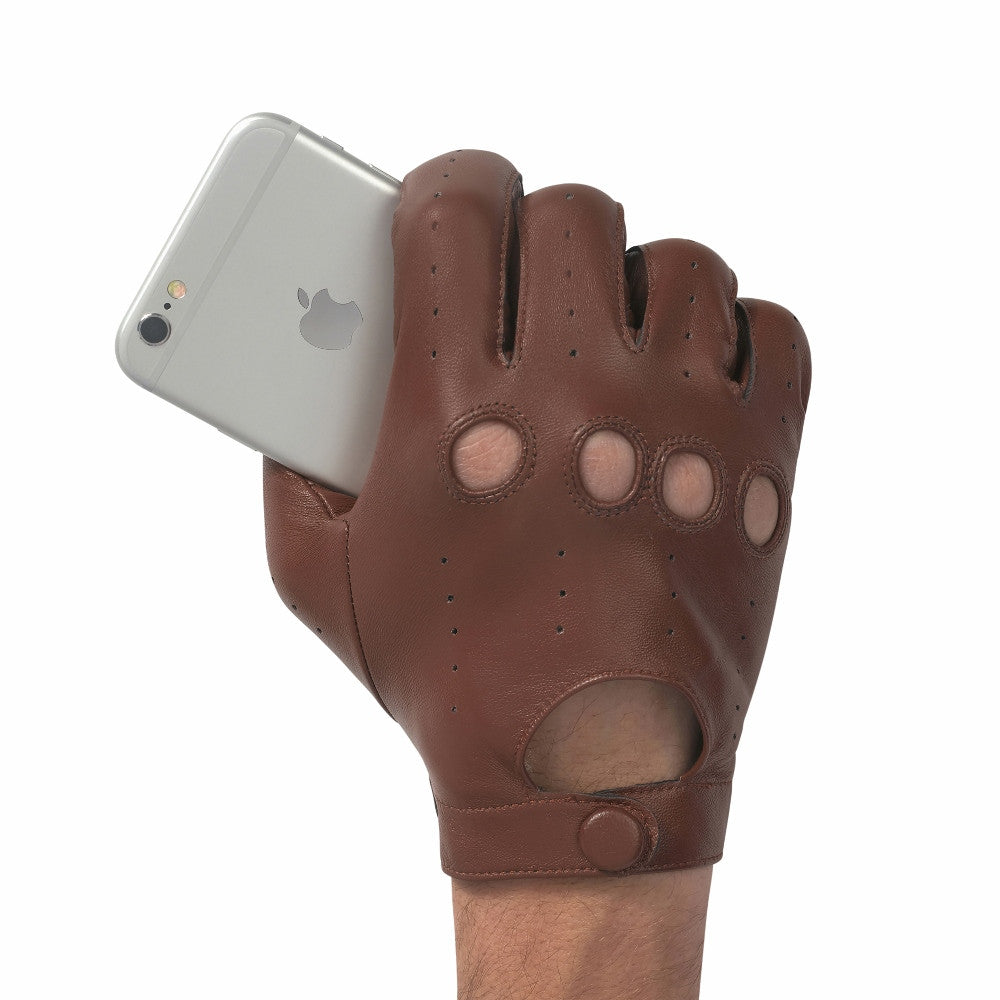 Leather gloves that work with iphone - Men S Driving Leather Touch Screen Glove