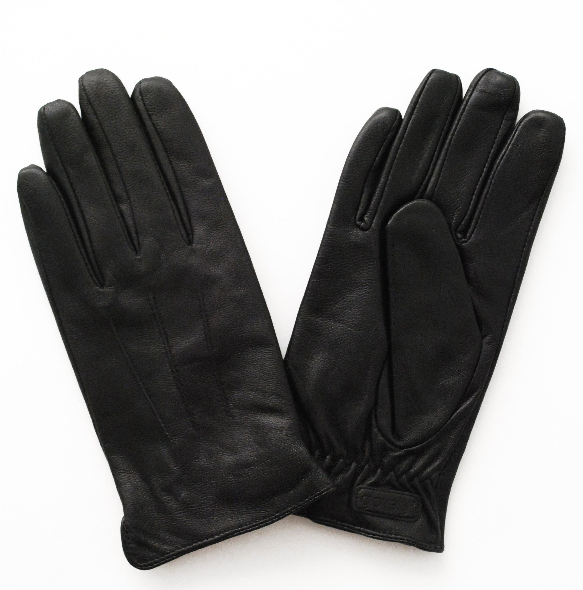 Black gloves mens -  Men S Classic Leather Touch Screen Glove Black