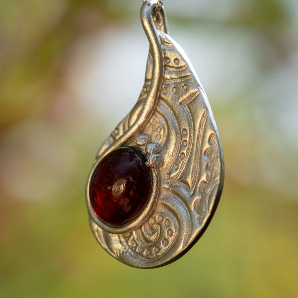 Tear Shaped Diachronic glass pendant