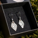 Diamond shaped patterned earrings