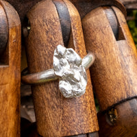 Solid silver & Stirling silver kelp ring