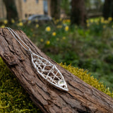 Long oval pendant