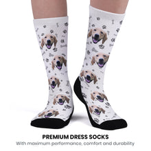 Custom Upgrade Breathable Dog Socks With Your Text - MyPhotoSocks