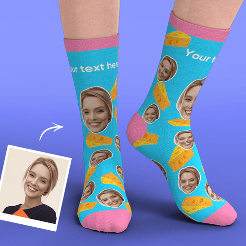 Custom Face Socks Add Pictures-Chesses