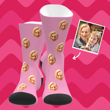Custom Photo Face Socks With Your Text Colorful - MyPhotoSocks