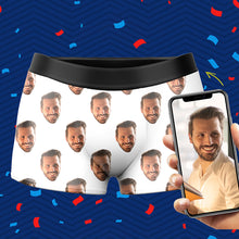 Custom Photo Man Corlorful Face Boxer Shorts - MyPhotoSocks