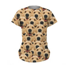 Custom Face Mash Dog T-shirt - MyPhotoSocks