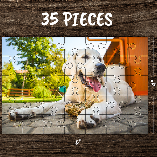 Custom Photo Jigsaw Puzzle Best Gifts For Pet & Love & Family - 35-1000 pieces - MyPhotoSocks