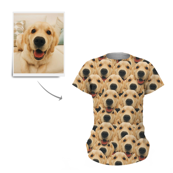 Custom Face Mash Man Dog T-shirt - MyPhotoSocks