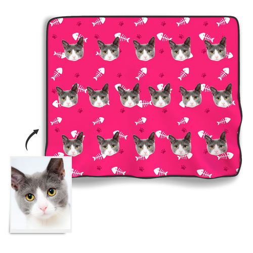 Cat Photo Blanket - MyPhotoSocks