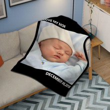 Kids Personalized with 1 Photo Fleece Custom Blanket - MyPhotoSocks
