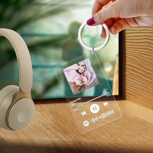 Custom Spotify Code Music Plaque Keychain(2.1in x 3.4in)