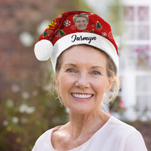 Custom Best Grandmother Photo Santa Hat With Your Text - MyPhotoSocks