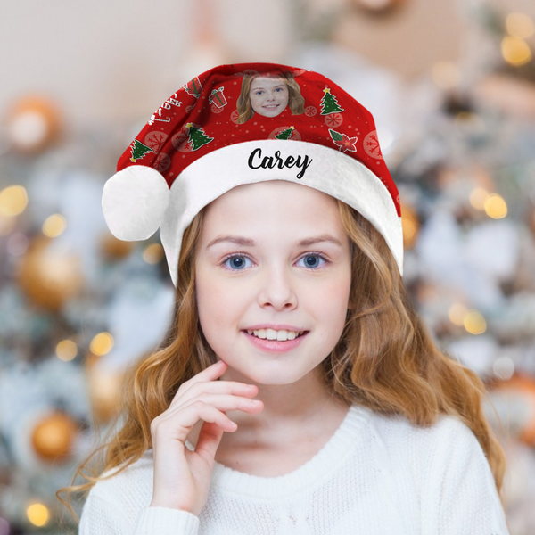 Custom Best Granddaughter Photo Santa Hat With Your Text