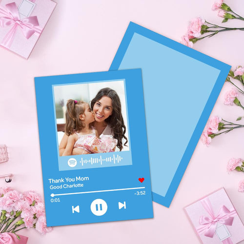 Mother's Day Card - Custom Scannable Song Playlist Spotify Code Greeting Card