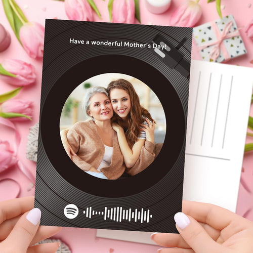 Mother's Day Card - Custom Spotify Code Record Greeting Card