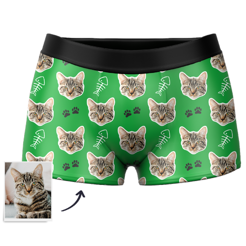 Custom Cat Boxer Shorts - MyPhotoSocks