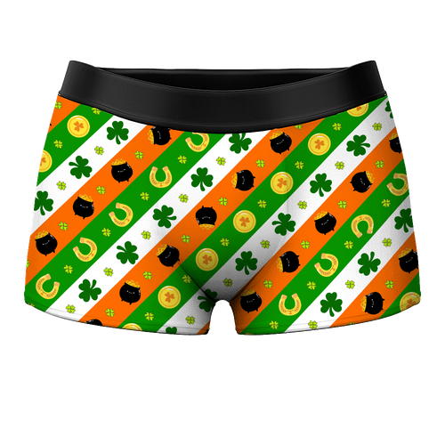 Men's Boxer Shorts - Lucky Gold Pouch - MyPhotoSocks