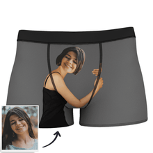 Custom Photo Man Boxer Shorts On Body Tan-Skin