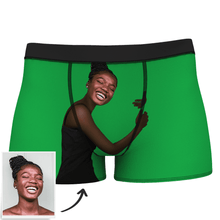 Custom Photo Man Boxer Shorts On Body Dark Skin