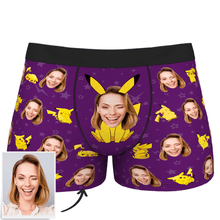 Custom Photo Man Boxer Pikachu - MyPhotoSocks