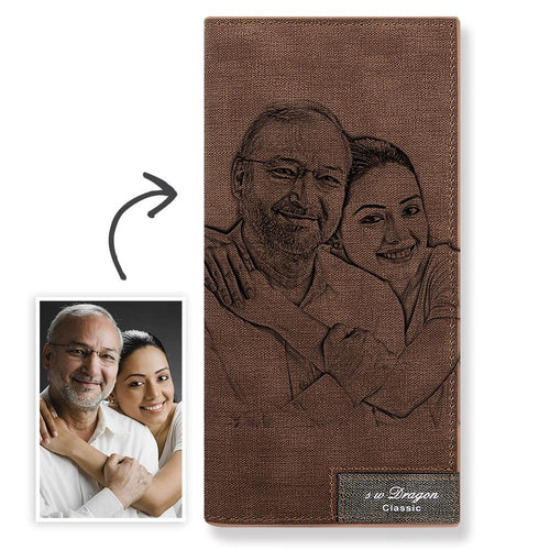 Long Custom Photo Wallet Brown - MyPhotoSocks