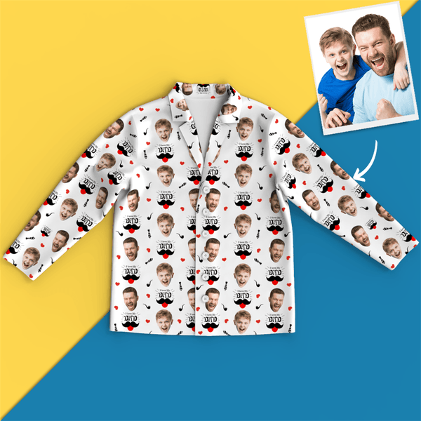Custom Face Pajamas - I Love My Dad - MyPhotoSocks