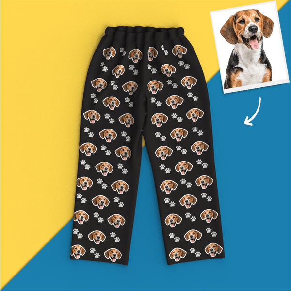 Custom Face Pajamas Leisure Wear - Pet Footprint