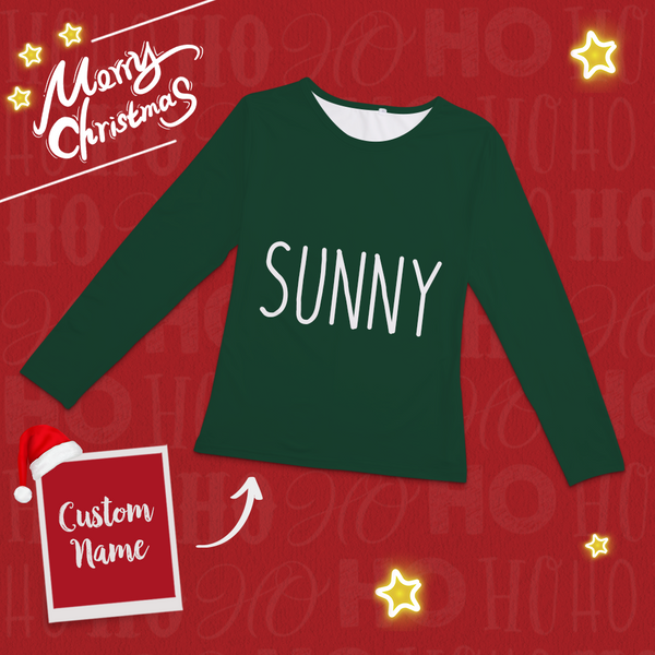Custom Classic Red And Green Christmas Pajamas Set-Pajama Tops