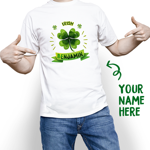 Custom Happy St. Patrick's Day With Your Name T-shirt - MyPhotoSocks