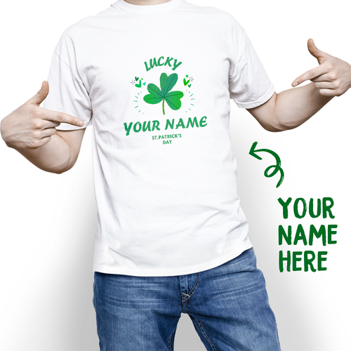 Custom St. Patrick's Day Lucky Colver With Your Name T-shirt - MyPhotoSocks