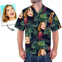 Custom Face Hawaiian Shirt All Over Print Leaves - facesocks