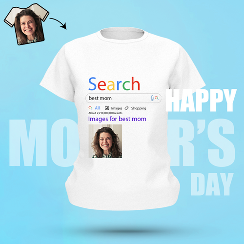 Custom Photo T-shirt World's Best Mom Search Display