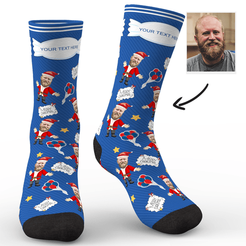 Custom Photo Socks Who Stole Christmas Gift With Your Text - MyPhotoSocks