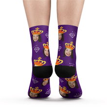Custom Queen Photo Socks - MyPhotoSocks