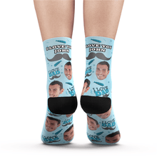 Custom I Love Dad Photo Socks With Your Text - MyPhotoSocks