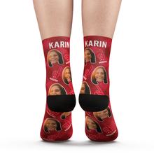 Custom Photo Socks #1 Daughter Fan With Your Text - MyPhotoSocks